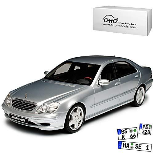 Mercedes-Benz S-Klasse S55 AMG W220 Limousine Silber 1998-2005 Nr 292 1/18 Otto Modell Auto