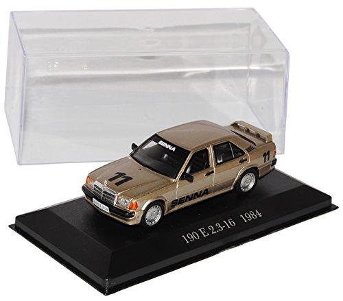 Ixo Mercedes-Benz C-Klasse 190E W201 Senna Edition 2.3-16 Gold Beige 1982-1993 Nr 78 1/43 Modell Auto