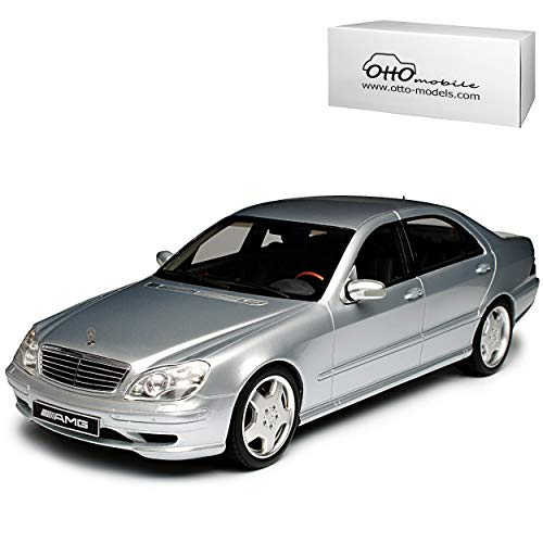 Mercedes-Benz S-Klasse S55 AMG W220 Limousine Silber 1998-2005 Nr 292 1/18 Otto Modell Auto