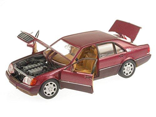 Mercedes W140 S-Klasse 600 SEL rot Modellauto Schabak 1:43