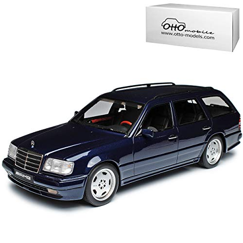 Mercedes-Benz E-Klasse T-Modell S124 AMG E36 Kombi Dunkel Blau 1984-1997 Nr 753 1/18 Otto Mobile Modell Auto