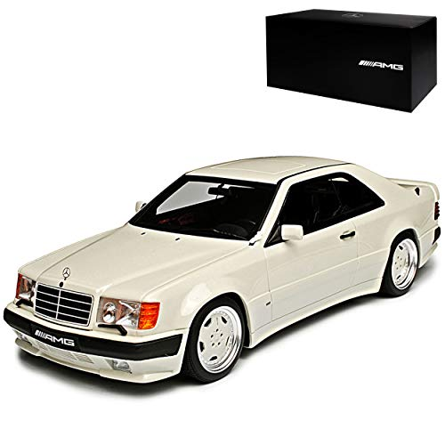 Mercedes-Benz E-Klasse C124 300CE AMG Coupe Weiss 1984-1997 1/18 Otto Modell Auto mit individiuellem Wunschkennzeichen