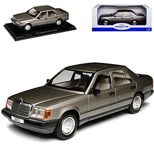 Model Car Group Mercedes-Benz E-Klasse 300 D W124 Limousine Anthrazit Grau 1984-1997 1/18 Modell Auto