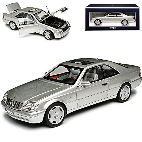 Mercedes-Benz S-Klasse Coupe CL600 C140 Silber Metallic 1992-1998 1/18 Norev Modell Auto