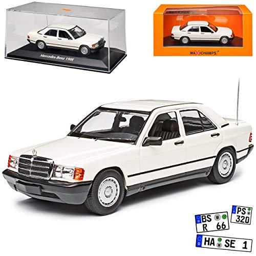 Mercedes-Benz C-Klasse 190E W201 Weiss 1982-1993 1/43 Minichamps Maxichamps Modell Auto
