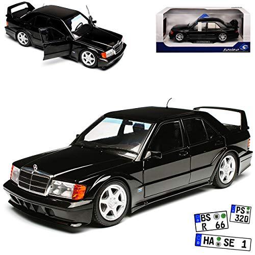 Mercedes-Benz C-Klasse 190E W201 2.5-16V Evolution II Schwarz 1982-1993 1/18 Solido Modell Auto