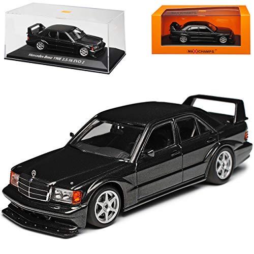 Mercedes-Benz C-Klasse 190E W201 2.5-16V Evolution II Blau Schwarz Metallic 1982-1993 1/43 Minichamps Maxichamps Modell Auto