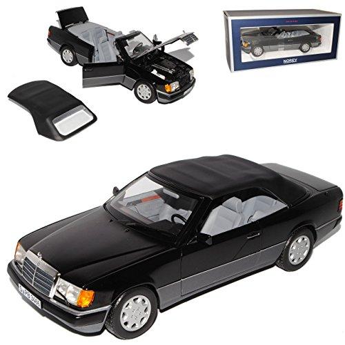 Norev Mercedes-Benz E-Klasse 300 CE W124 A124 Cabrio Schwarz 1984-1997 1/18 Modell Auto mit individiuellem Wunschkennzeichen