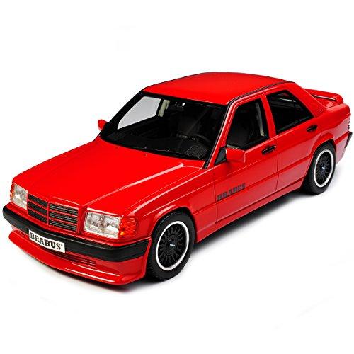 Mercedes-Benz C-Klasse 190E Bra-Bus 3.6S Signal Rot W201 1982-1993 Nr 674 1/18 Otto Modell Auto mit individiuellem Wunschkennzeichen