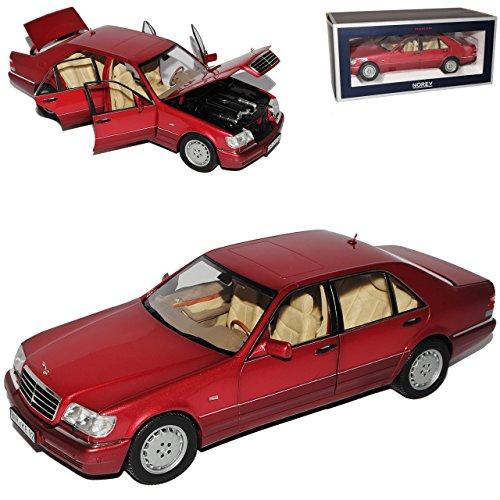 Norev Mercedes-Benz S-Klasse Dunkel Rot S600 W140 1991-1998 1/18 Modell Auto