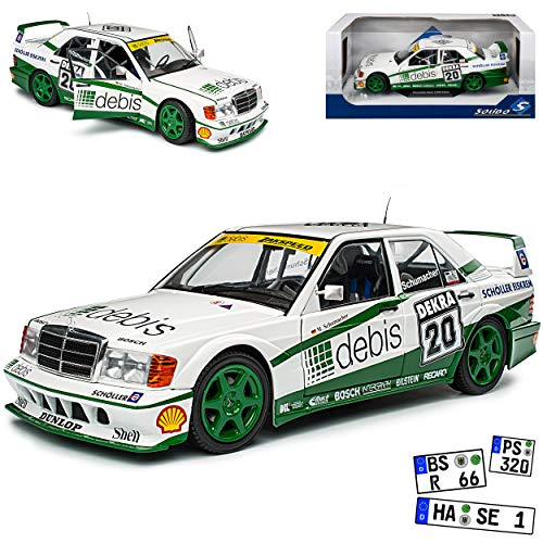 Mercedes-Benz C-Klasse 190E W201 2.5-16V Evolution II DTM Michael Schumacher 1982-1993 1/18 Solido Modell Auto