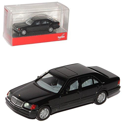 Herpa Mercedes-Benz S-Klasse W140 Schwarz 1991-1998 H0 1/87 Modell Auto
