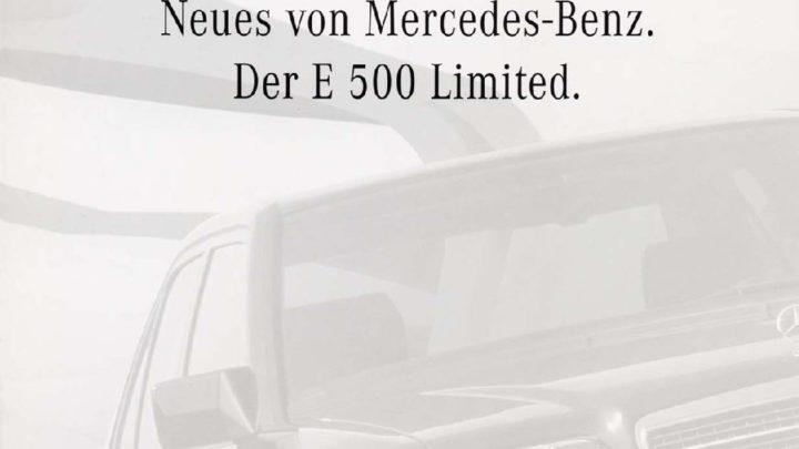 Typ E 500 Limited 1994 pdf
