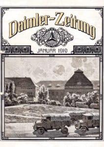 "Erstausgabe der Kundenzeitschrift ""Daimler-Zeitung"" der Daimler-Motoren-Gesellschaft, Januar 1919"