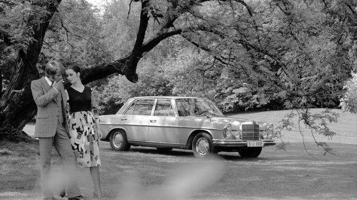 """Weltpremiere des Mercedes-Benz 300 SEL 6.3 im Jahr 1968: """"Eines der temperamentvollsten und schnellsten Serienfahrzeuge auf dem Weltmarkt"""""""