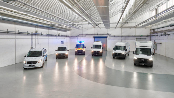 Aufbaulösungen mit lokal-emissionsfreien Vans von Mercedes-Benz